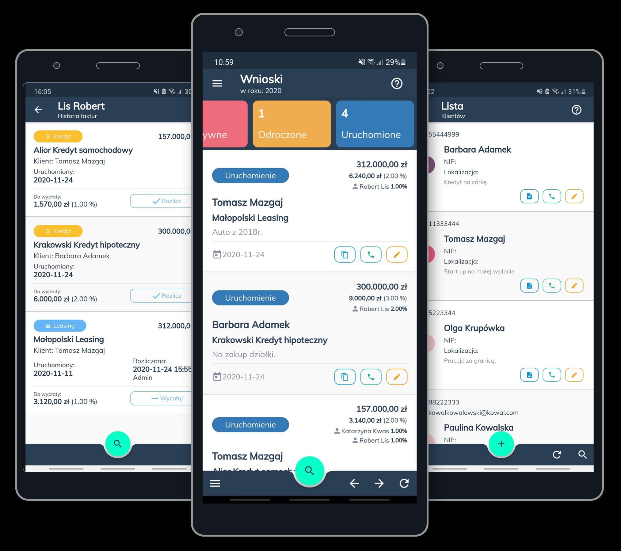 Aplikacja mobilna dla doradców i pośredników kredytowych